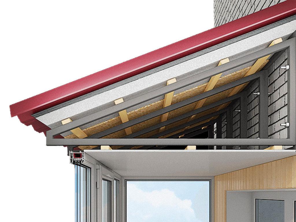 установка крыши на балкон Севастополь